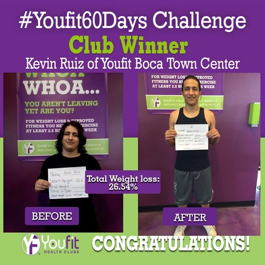 Congratulations to one of our club winners for completing Youfit 60 Days Challenge! To find out how you can participate in our next challenge for an opportunity to win cash prizes visit www.youfit.com #Fitness #Motivation