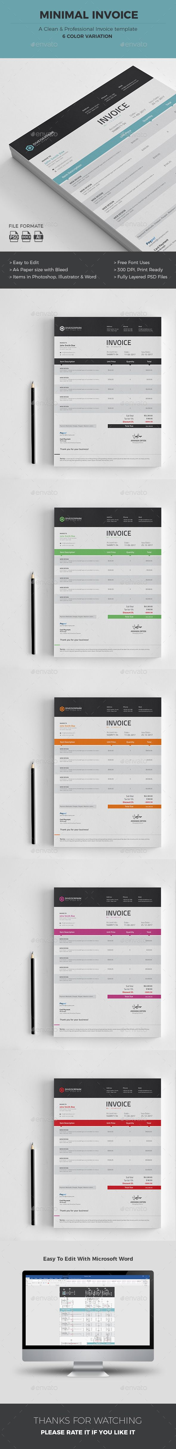 #Invoice - #Proposals & Invoices Stationery