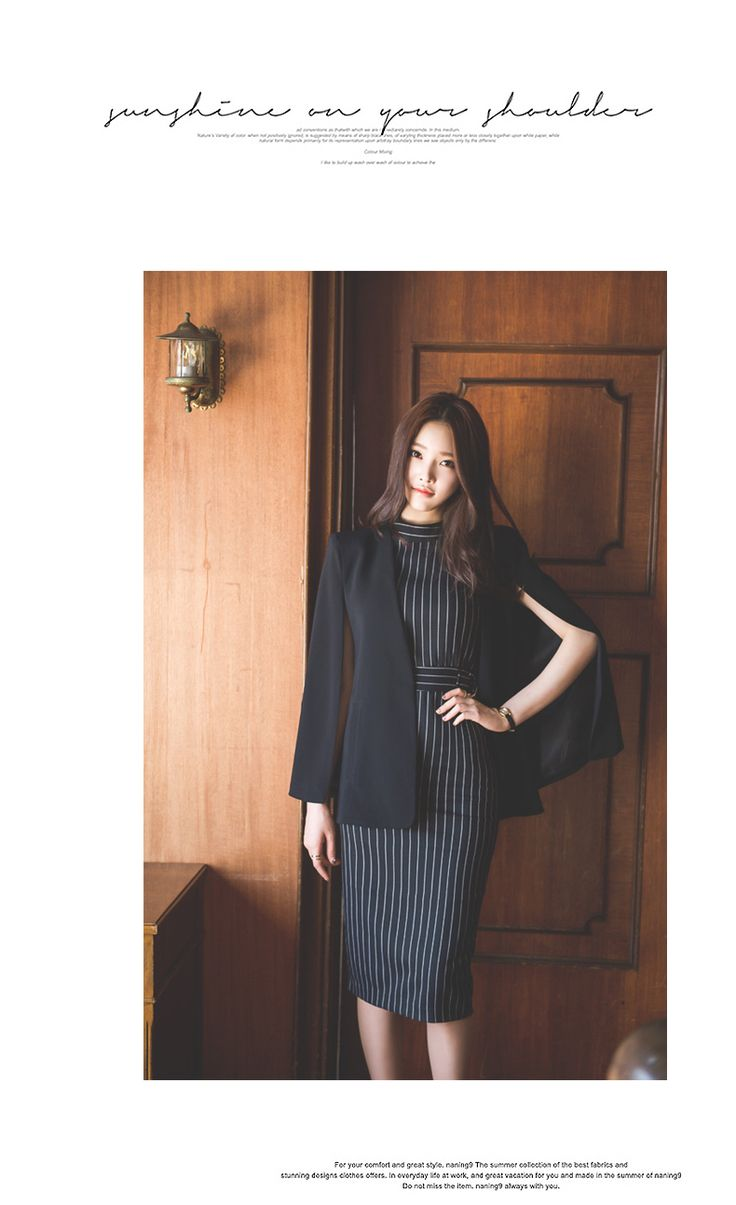 Fashion Korea's Women Dress Suit New Cloak + stripes Dress Knee Length 2pcs Blazr Suit Dresses Twinset OL Suits Work Clothes-in Dress Suits from Women's Clothing & Accessories on Aliexpress.com   Alibaba Group