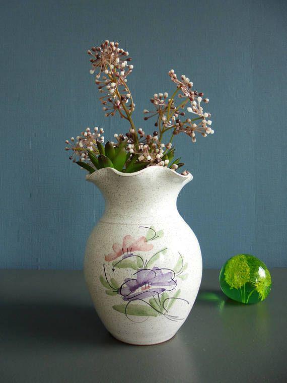 Mid century modern vaas Scandinavische vaas bloemen patroon