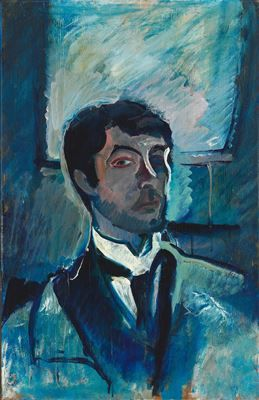 Self Portrait by Harald Giersing (1881-1927), Danish - known for modernist portrait, football scenes, ballet and landscape painting (peira)