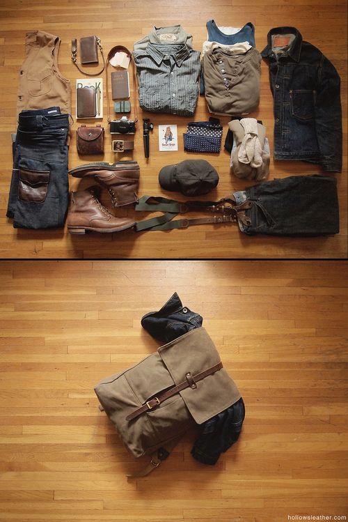 Ellos: Los esenciales de prendas básicas irnos de fin de semana.  Conoce cómo hacer tu maleta según tu tipo de viaje en http://silviafoz.com/servicios/momentos-especiales/