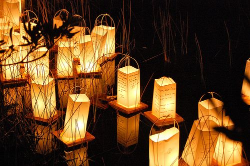 Floating lanterns ... make some ASAP and float your intentions forward....