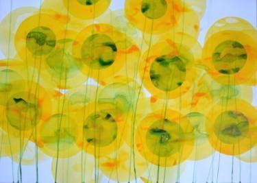 """Saatchi Art Artist Jitka Anlaufova; Painting, """"Sunflower Field"""" #art"""