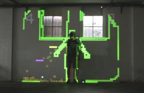 3D projection mapping turns buildings into a Snake arcade | Games ...
