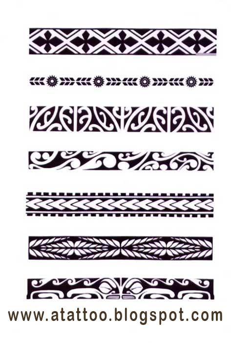 Padrões de bracelete maori.