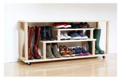 5 DIY Boot and Shoe Racks for Small Entryways: How to Make a Rolling Shoe Rack