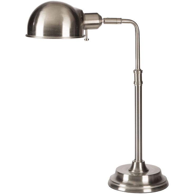 Transitional Desk Lamp (Silver) (Metal)