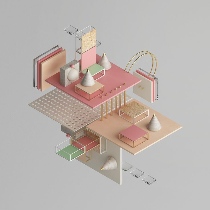 It is a personal project in which it is represented isometric projection of a clean and aesthetic way, with pastel colors and elegant materials-textures.The concept is to show how simple objects,(cubes,cones, torus,tubes, etc.),of the Cinema 4D prog…