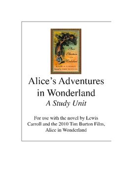 best homeschool alice and wonderland images  alice in wonderland literature film study unit