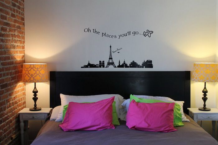 eclectic bedroom wall murals ideas ideas for a teen girls bedroom pinterest teenage room. Black Bedroom Furniture Sets. Home Design Ideas