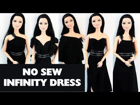No Sew Dress Patterns | SimpleKidsCrafts.  Not crochet but simple pattern with LOTS of ways for Barbie to wear this!