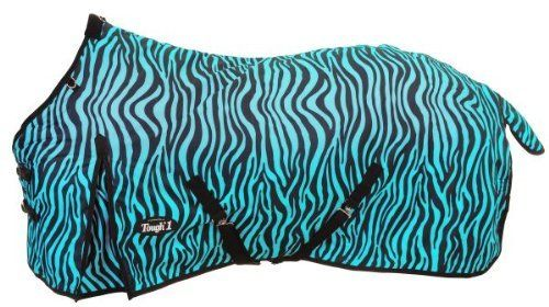 Tough-1 600D Turnout Blanket in Prints by JT. $85.35. From the original TOUGH-1. Medium/Heavyweight. Designed without a back seam to prevent leaking. Made of 600 denier ripstop poly outer shell with waterproof 210 lining, 300 grams of poly fill. Fleece wither protection. Crossed surcingles with elastic ends. Adjustable leg straps with elastic ends. Double buckle front. Shoulder gussets allow freedom of movement.. Save 32% Off!