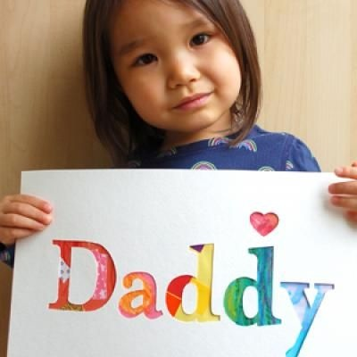 Daddy Art Work {Art}: Gifts Ideas, Homemade Father, Father Day Gifts, Father'S Day, Fathers Day, Watercolor Cards, Daddy Gifts, Cut Outs, Cards Templates