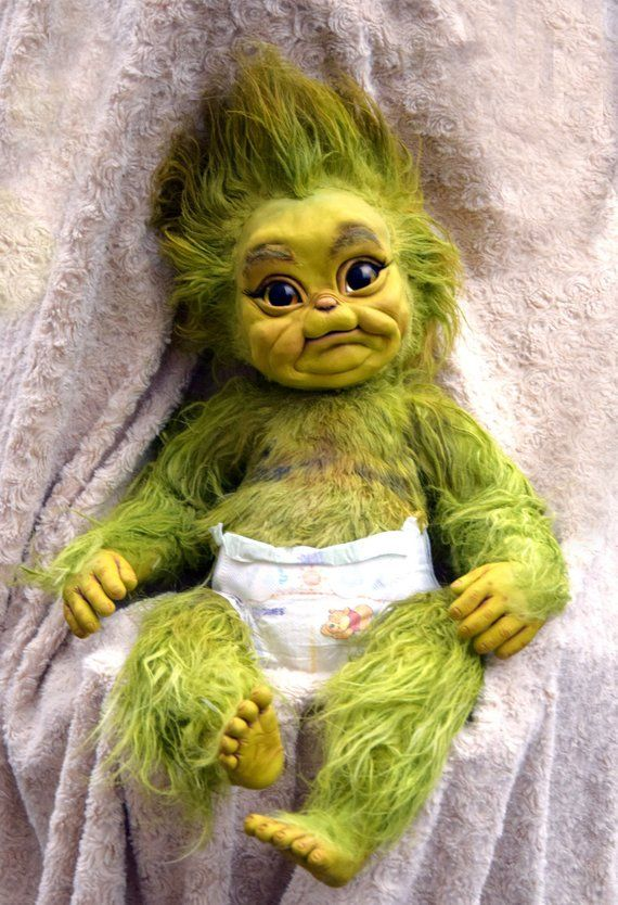 Baby Christmas Stealer In 2019 Baby Grinch Cute Cartoon