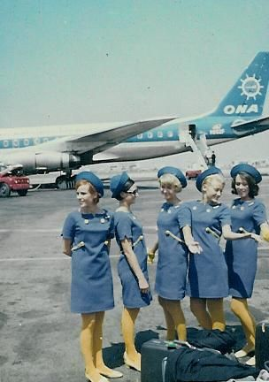 1960s--Didn't we all get stars in our eyes dreaming about being a stewardess and flying the friendly skies to faraway places?