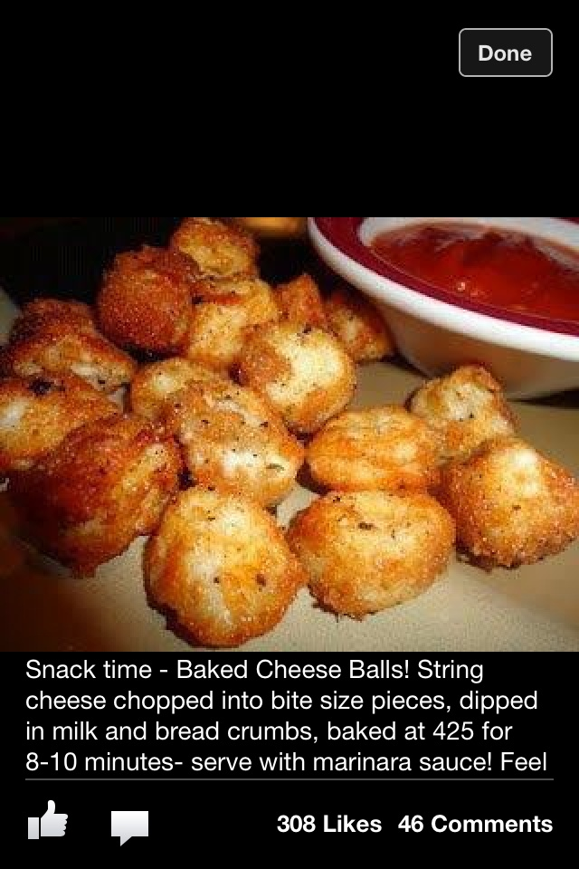 Fried - String cheese bites! freeze cheese for at least 15 min first to help prevent the cheese melting into the cookie sheet.
