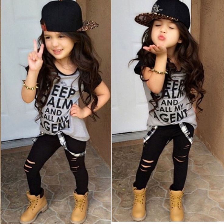 Autumn Toddler Girls Outfits Loose Printed T-shirt Tops+Long Pants Trousers 1Set #1989_2019 #CuteOccidentCoolFashion #SportsCasualEverydayHoliday