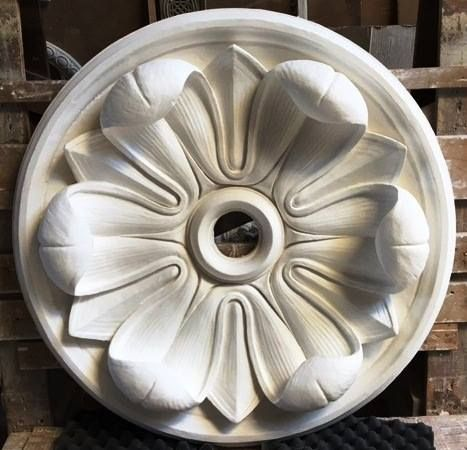 """Strikingly different from the Louis XVI medallion posted a few days ago, our Roman medallion #1099 makes a bold statement in a very different way with a 36"""" span and flowing leaves that project 6"""". I am feeling poetic today!"""