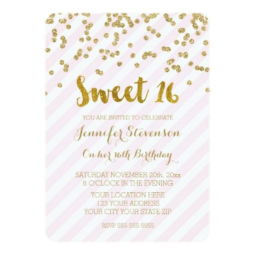 434 best pink 16th birthday party invitations images on pinterest, Party invitations