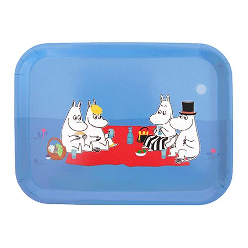 The Moomins are enjoying apples and blueberries at their picnic. What will you serve family and friends on this darling and durable birch wood tray? Moomin Picnic Small Tray