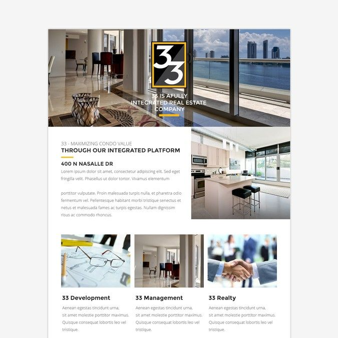 Create a html newsletter template to be used in Constant Contact for 33. by…
