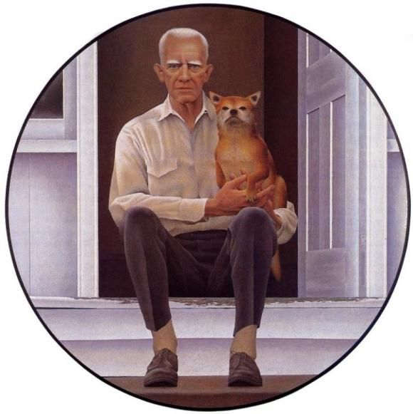 Alex Colville, My Father With Hiis Dog