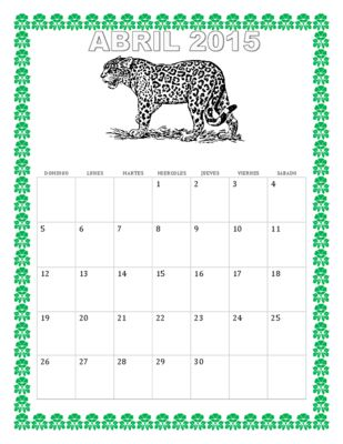 Earth Day Theme- La Fecha- Calendario de Abril- April Calendar from La Señora H on TeachersNotebook.com -  - This wonderful and exciting lesson is an amazing way to review The days of the week, April holidays and numbers from 0-30 in a single lesson plan.