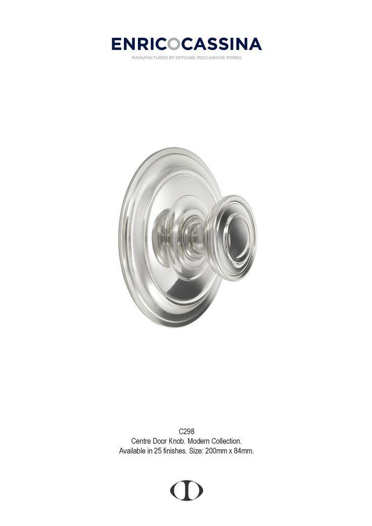 centre door knob, xx century, design, large, modern, polished chrome