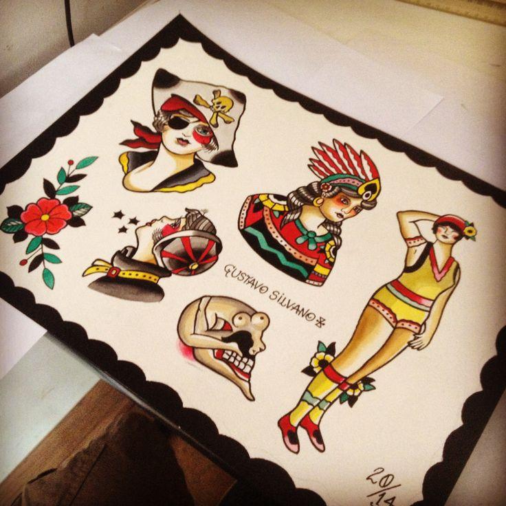 Gustavo Silvano tatuagem em Niterói - Rio de Janeiro - Pin -Up Tattoo.