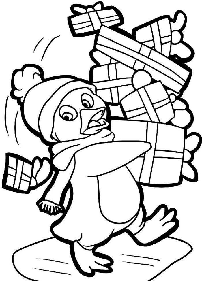 Penguin Christmas Coloring Pages Penguin Coloring Pages Christmas Coloring Pages Animal Coloring Pages