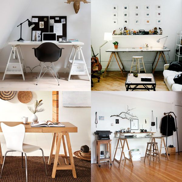Always loved this kind of desk, here's the perfect montage of them!
