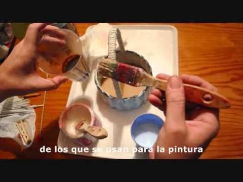 13.1. (subt) Acabado de las cestas: encolado y técnicas generales.