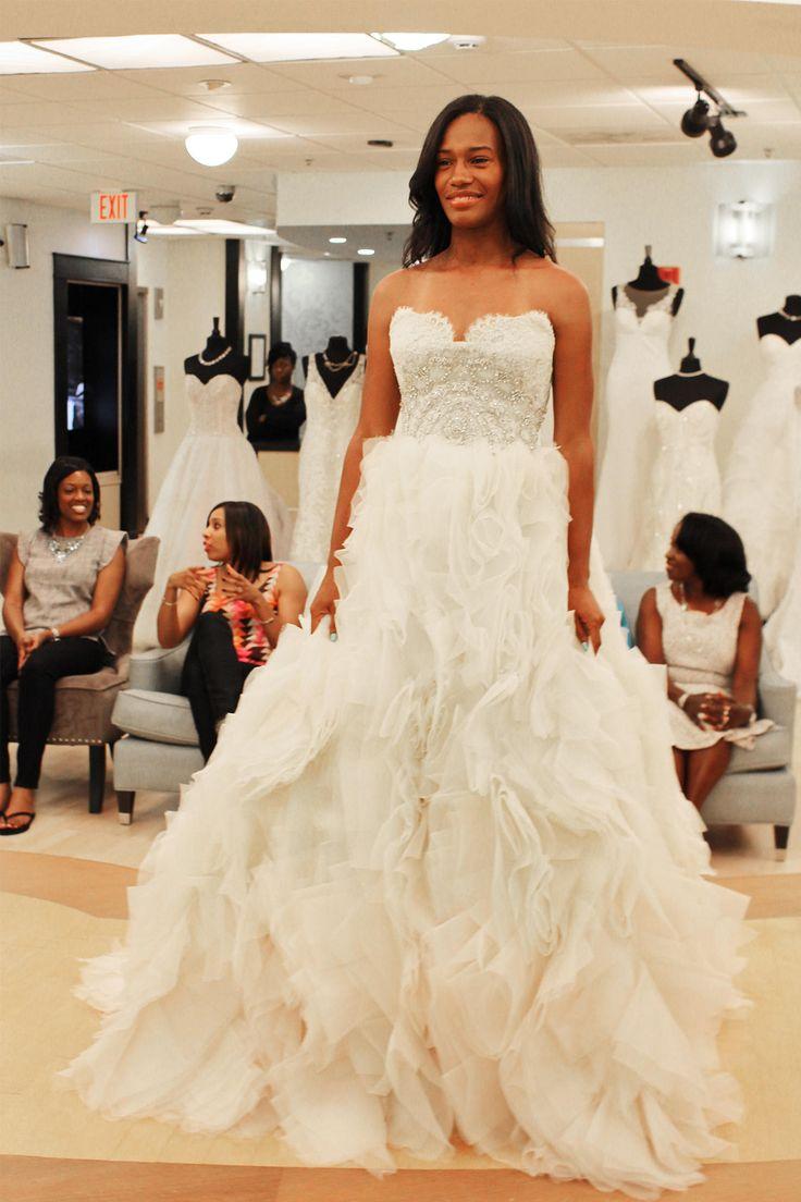 Season 9 featured dress lazaro ballgown ivory ombre for Lazaro lace wedding dress