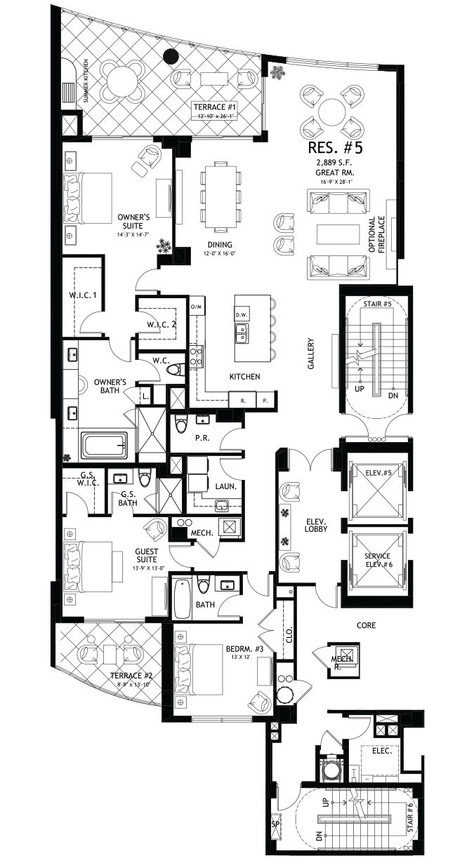 1000 images about home floorplans condos on pinterest Luxury duplex floor plans