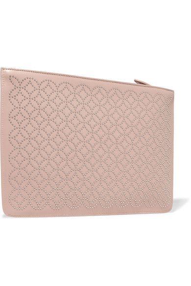 Alaïa - Studded Leather Clutch - Blush - one size
