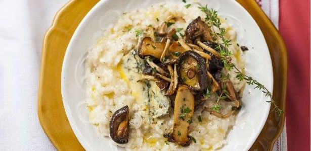 Risotto with mushrooms and Stilton