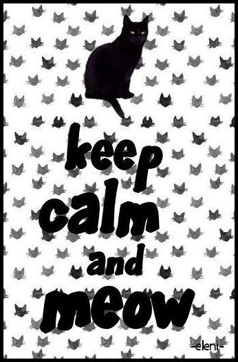 KEEP CALM AND MEOW - created by eleni