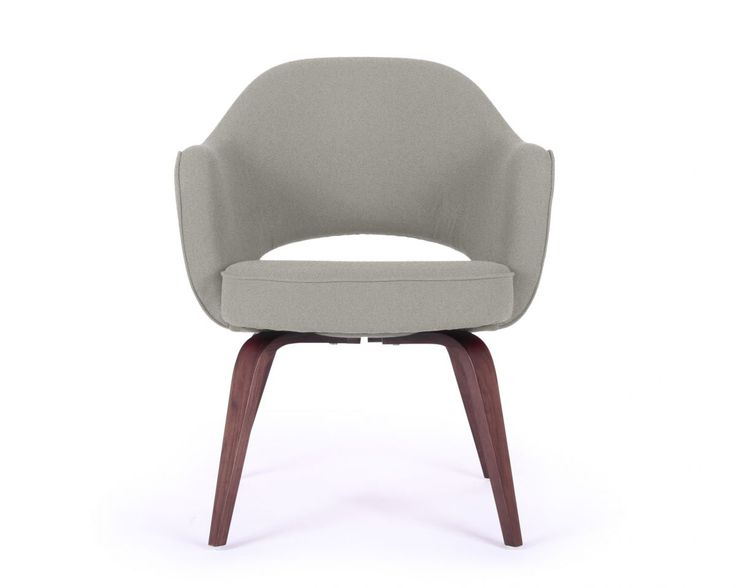 Saarinen Executive Armchair Wood Legs Rove Concepts Reproductions Startin