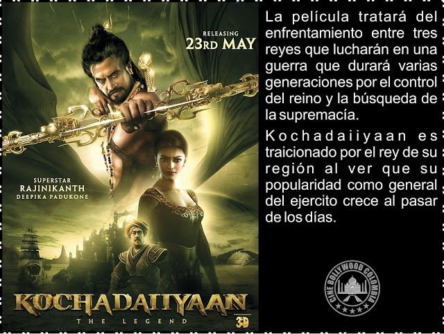 Cine Bollywood Colombia: KOCHADAIIYAAN