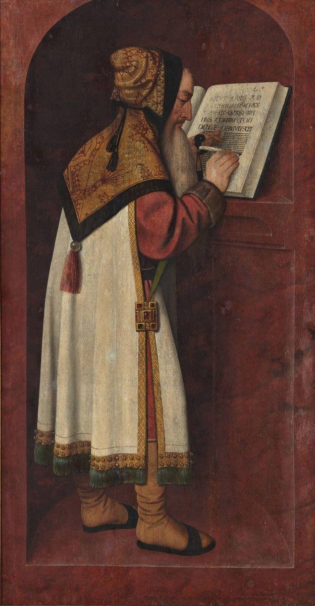 Prophet Isaiah, Jan Mostaert, 1495 - 1505 | Museum Boijmans Van Beuningen