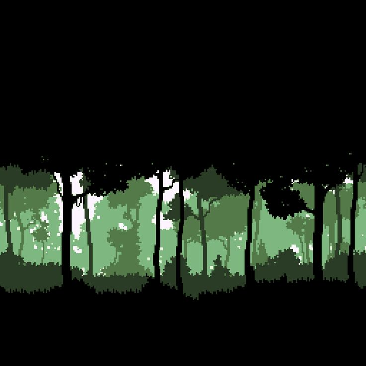 Monochromatic pixelated trees that would make a great ...