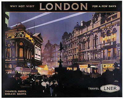 VISIT LONDON Vintage LNER Art Deco Railway/Travel Poster A1,A2,A3,A4 Sizes | eBay