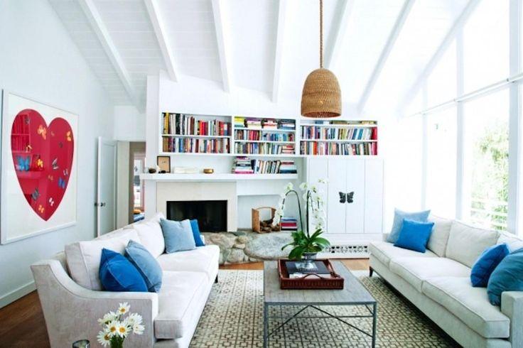 De kleurrijke huiskamer met uitzicht op de oceaan - Binnenkijken in Miranda…