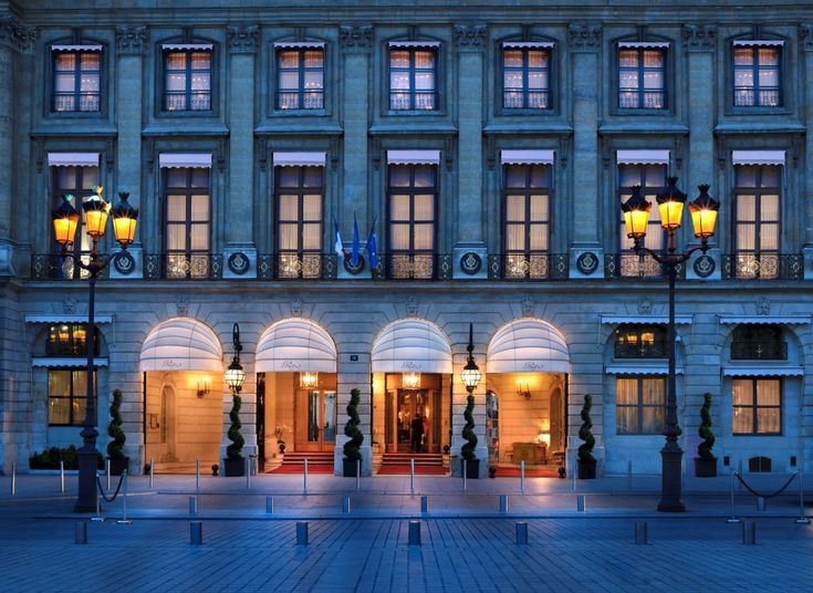 Hotel Ritz, Paris Place Vendome.  Since 1898, inextricably woven into the fabric of Parisian society and culture, the Ritz Paris is renowned for its incomparable savoir-faire in making every visit exceptional, from Haute Cuisine by Chef Nicolas Sale to custom cocktails at the Bar Hemingway.