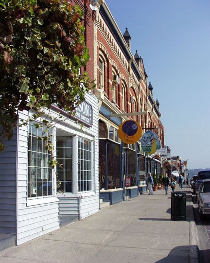 Port Perry's charming downtown shops: via the Scugog Twp. Heritage Gallery