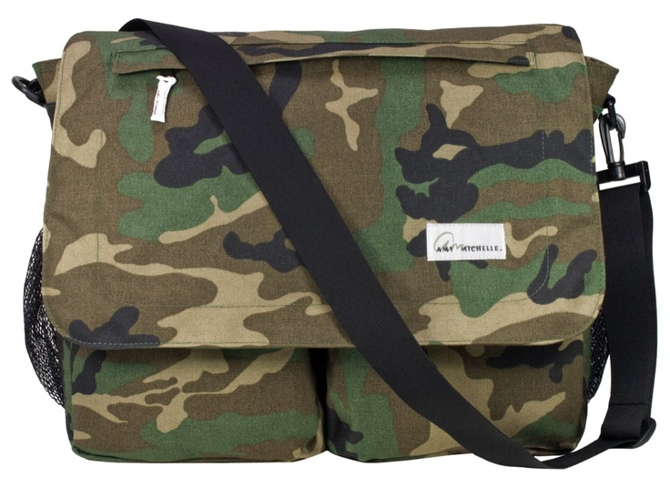 Check out these camo diaper bags for moms and dads.  They are new from designer Amy Michelle.  Read BabyBrowns Blog to learn more about these super cool designer diaper bags.