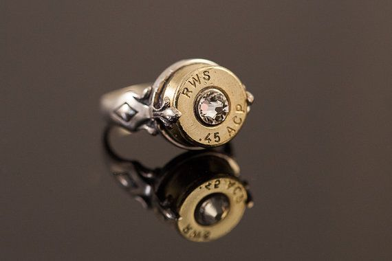"""Sterling Silver Bullet Ring-""""Gun Girl""""-Size ladies size 7 or 8- Free U.S. and Canada Shipping on Etsy, $80.00"""