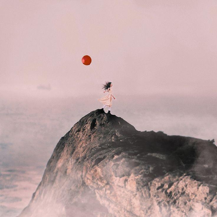 Art & Creative Art & Creative okeyteam kate troyan photo girl portrait woman sea water baloon