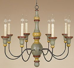 55 best primitive lighting images on pinterest lanterns country style chandelier i like the wooden candle supportsi aloadofball Image collections